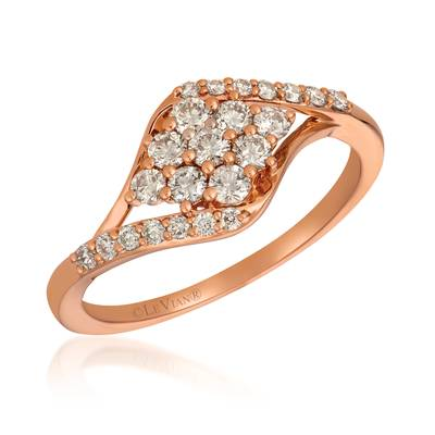 14K Strawberry Gold® Ring with Nude Diamonds™ 1/2 cts. | YRGO 69