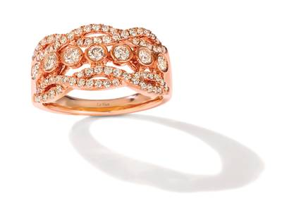14K Strawberry Gold® Ring with Nude Diamonds™ 7/8 cts. | YRGO 81