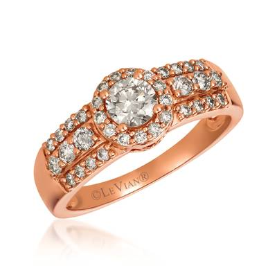 14K Strawberry Gold® Ring with Nude Diamonds™ 3/4 cts. | YRHK 72
