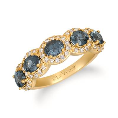 14K Honey Gold™ Gray Spinel 1  3/4 cts. Ring with Nude Diamonds™ 1/2 cts. | YRHR 26-070