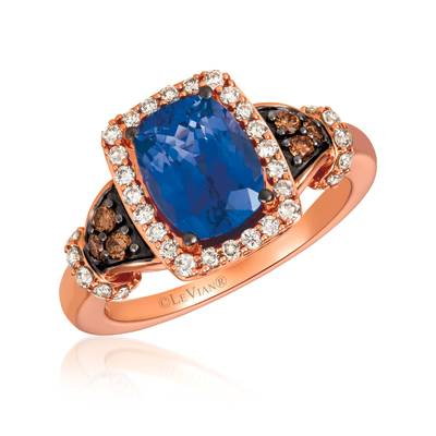 14K Strawberry Gold® Blueberry Tanzanite® 2 cts. Ring | YRHS 42