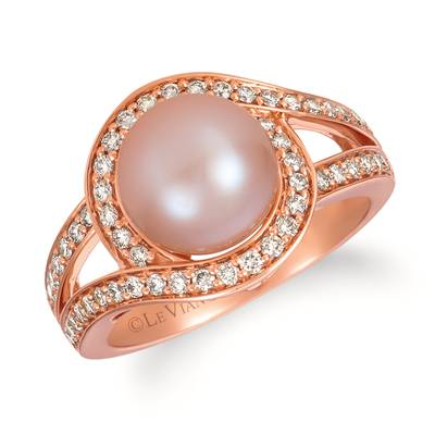 14K Strawberry Gold® Strawberry Pearls®  cts. Ring with Nude Diamonds™ 1/2 cts. | YRHS 66