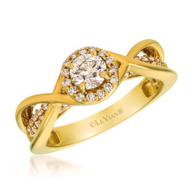 14K Honey Gold™ Ring with Nude Diamonds™ 1 cts. | YRIC 68