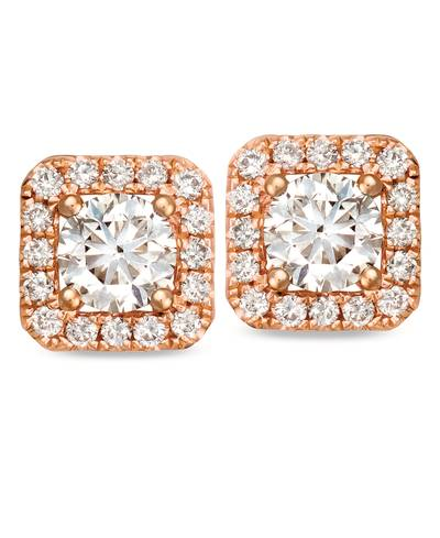 14K Strawberry Gold® Earrings with Nude Diamonds™ 3/4 cts. | YRIL 50