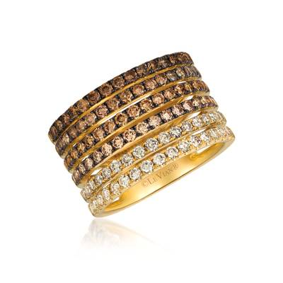 14K Honey Gold™ Ring with Chocolate Ombré Diamonds® 1  7/8 cts. | YRIN 14