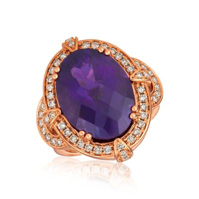 18K Strawberry Gold® Grape Amethyst™ 10 3/4 cts. Ring | YRIS 2