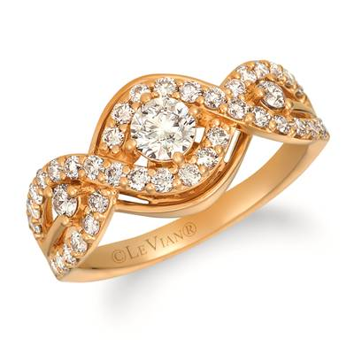 14K Honey Gold™ Ring with Nude Diamonds™ 1 cts. | YRIT 11