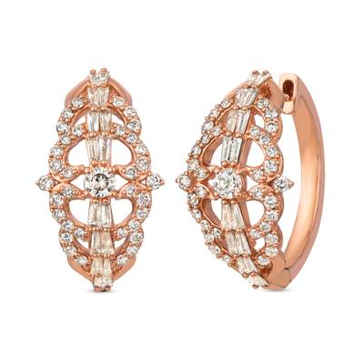 14K Strawberry Gold® Earrings with Nude Diamonds™ 1  3/8 cts. | YRIT 35