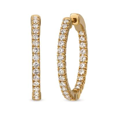 14K Honey Gold™ Earrings with Nude Diamonds™ 1  1/2 cts. | YRJH 6