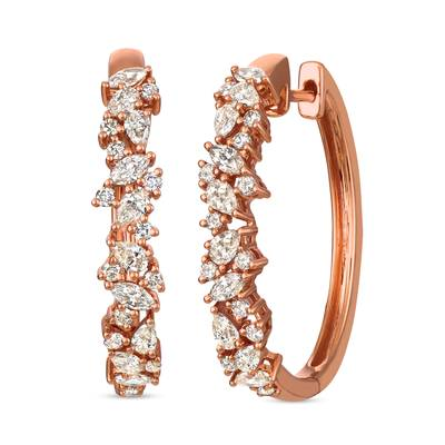14K Strawberry Gold® Earrings with Nude Diamonds™ 1  1/2 cts. | YRJV 7
