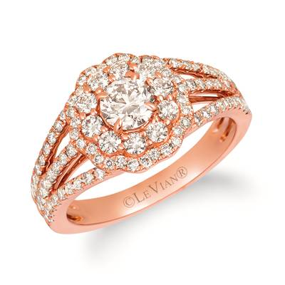 14K Strawberry Gold® Ring with Nude Diamonds™ 1  1/3 cts. | YRJX 15