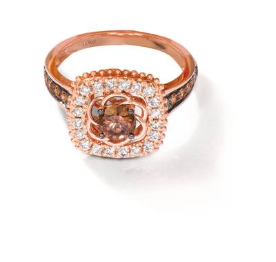 14K Strawberry Gold® Ring with Chocolate Diamonds® 3/4 cts., Nude Diamonds™ 1/3 cts. | YRKA 91