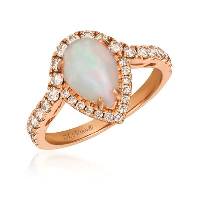 14K Strawberry Gold® Neopolitan Opal™ 7/8 cts. Ring with Nude Diamonds™ 5/8 cts. | YRKO 36