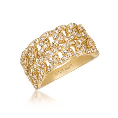 14K Honey Gold™ Ring with Nude Diamonds™ 1  1/3 cts. | YRKT 2