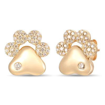 14K Honey Gold™ Earrings with Nude Diamonds™ 1/2 cts. | YRKT 33