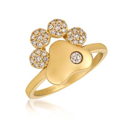 14K Honey Gold™ Ring with Chocolate Diamonds® 1/20 cts., Nude Diamonds™ 1/4 cts. | YRKT 35