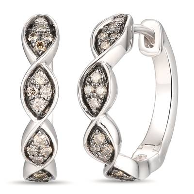 14K Vanilla Gold® Earrings with Chocolate Diamonds® 1/4 cts. | YRKT 43