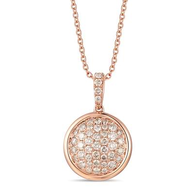 14K Strawberry Gold® Pendant with Nude Diamonds™ 5/8 cts. | YRKT 47