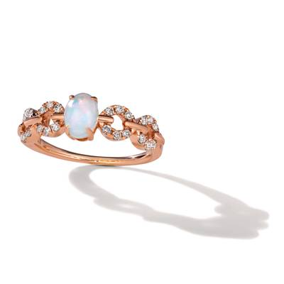 14K Strawberry Gold® Neopolitan Opal™ 3/8 cts. Ring with Nude Diamonds™ 1/4 cts. | YRLD 51