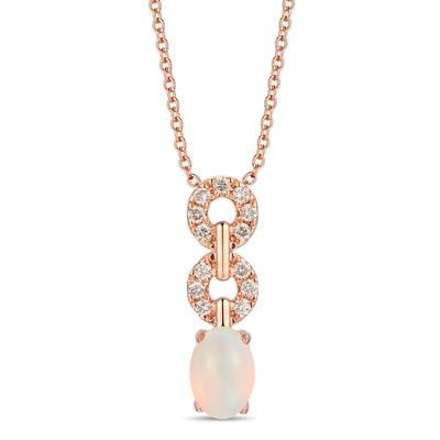 14K Strawberry Gold® Neopolitan Opal™ 3/8 cts. Pendant with Nude Diamonds™ 1/8 cts. | YRLD 52