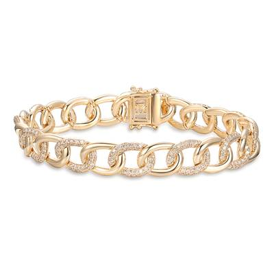 14K Honey Gold™ Bracelet with Nude Diamonds™ 3  1/4 cts. | YRLN 42
