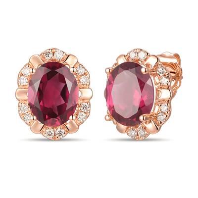 14k Strawberry Gold Earrings Nude Diamonds Yrlp 108 Le Vian