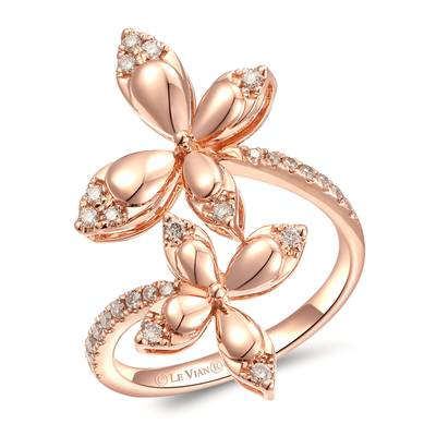 14K Strawberry Gold® Ring with Nude Diamonds™ 1/3 cts. | YRMA 17A