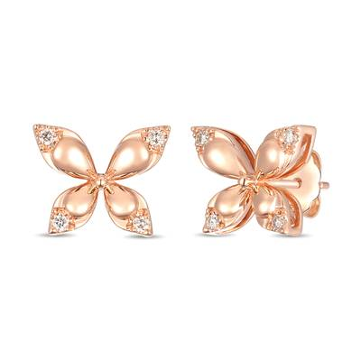 14K Strawberry Gold® Earrings with Nude Diamonds™ 1/10 cts. | YRMA 19A