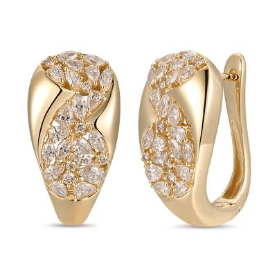 14K Honey Gold™ Earrings with Nude Diamonds™ 2 cts. | YRME 9C