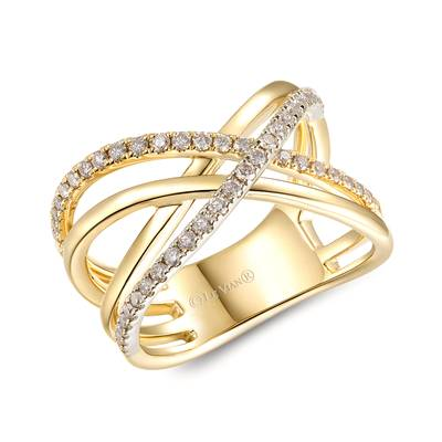 14K Two Tone Gold Ring with Nude Diamonds™ 3/8 cts. | YRMO 1B