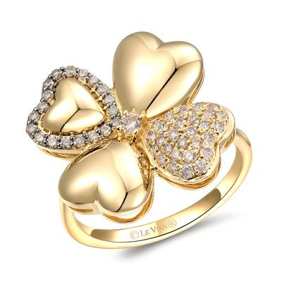 14K Honey Gold™ Ring with Nude Diamonds™ 1/3 cts., Chocolate Diamonds® 1/8 cts. | YRMR 3C