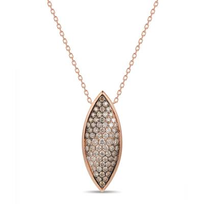 Adjnecklc with Chocolate Ombré Diamonds® 1  1/2 cts., Vanilla Diamonds® 1/5 cts. | YRNB 12E