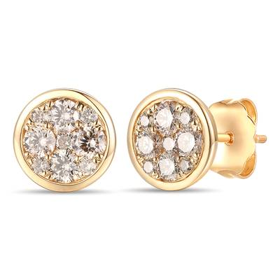 14K Honey Gold™ Earrings with Nude Diamonds™ 1 cts. | YRNP 22