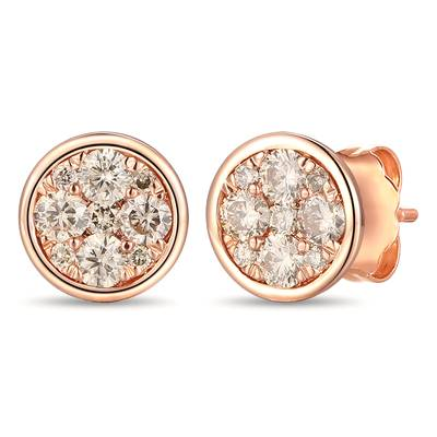 14K Strawberry Gold® Earrings with Nude Diamonds™ 1/2 cts. | YRNP 23