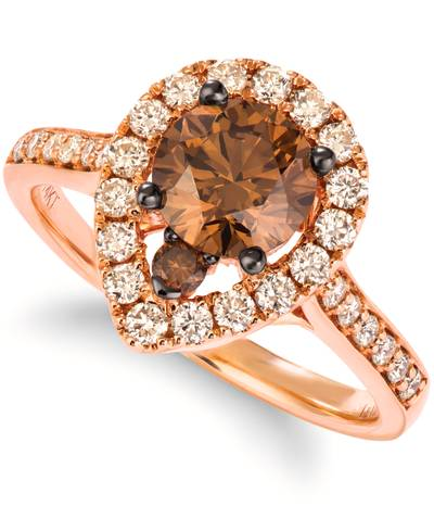 14K Strawberry Gold® Ring with Chocolate Diamonds® 1 cts., Nude Diamonds™ 1/2 cts. | YRNP 46