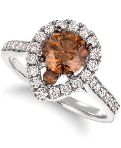 14K Vanilla Gold® Ring with Chocolate Diamonds® 1 cts., Nude Diamonds™ 1/2 cts. | YRNP 47