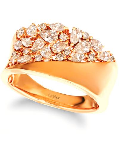 14K Honey Gold™ Ring with Nude Diamonds™ 7/8 cts. | YRNP 70