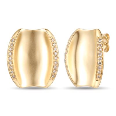 14K Honey Gold™ Earrings with Nude Diamonds™ 1/3 cts. | YRNR 10F