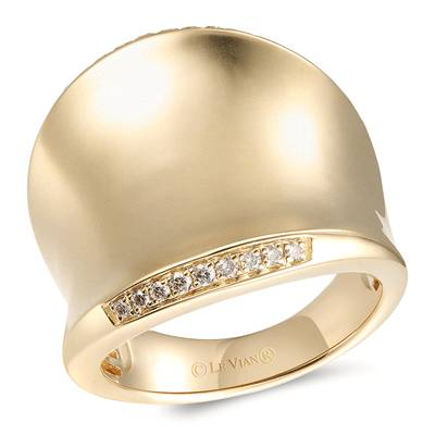 14K Honey Gold™ Ring with Nude Diamonds™ 1/8 cts. | YRNR 11F