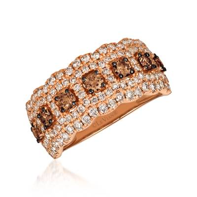 14K Strawberry Gold® Ring with Chocolate Diamonds® 1/2 cts., Nude Diamonds™ 7/8 cts. | YRNV 2