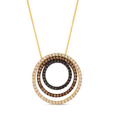 14K Honey Gold™ Pendant with Nude Diamonds™ 5/8 cts., Blackberry Diamonds® 1/3 cts., Chocolate Diamonds® 3/8 cts. | YROH 28