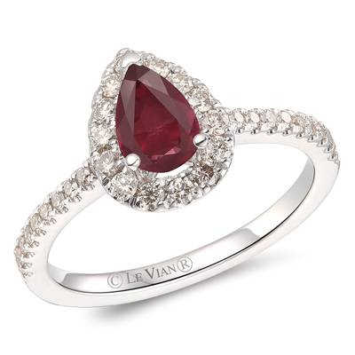 14K Vanilla Gold® Passion Ruby™ 5/8 cts. Ring with Nude Diamonds™ 3/8 cts. | YROT 5