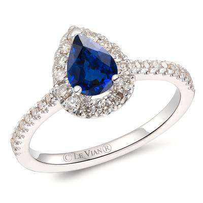 14K Vanilla Gold® Cornflower Ceylon Sapphire™ 5/8 cts. Ring with Nude Diamonds™ 3/8 cts. | YROT 6