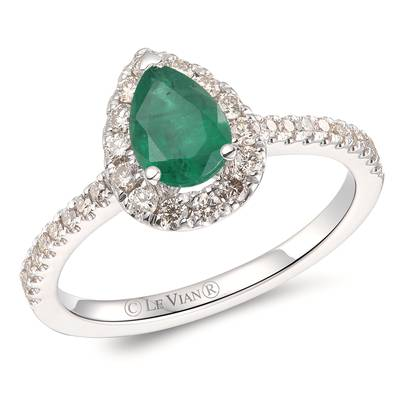 14K Vanilla Gold® New Emerald 1/2 cts. Ring with Nude Diamonds™ 3/8 cts. | YROT 7