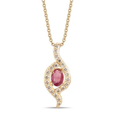 14K Honey Gold™ Passion Ruby™ 1/2 cts. Pendant with Nude Diamonds™ 1/3 cts. | YRPF 29