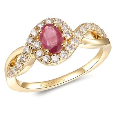 14K Honey Gold™ Passion Ruby™ 3/8 cts. Ring with Nude Diamonds™ 3/8 cts. | YRPF 30
