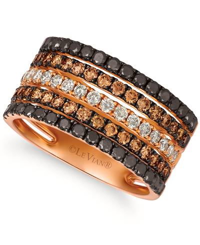 14K Strawberry Gold® Ring with Blackberry Diamonds® 5/8 cts., Nude Diamonds™ 1/3 cts., Chocolate Diamonds® 5/8 cts. | YRPS 10