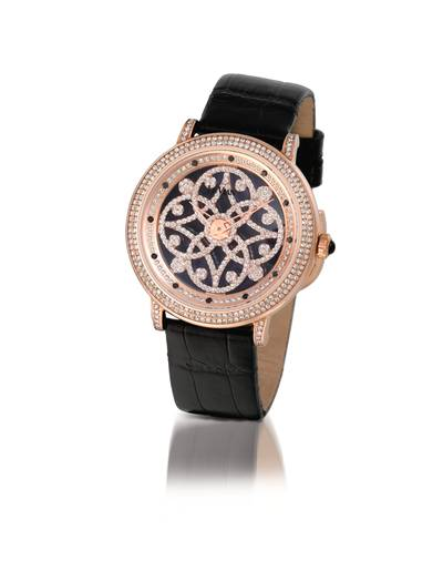 Stainless Steel Watch with Vanilla Diamonds® 2  1/2 cts., Black Diamonds 1/10 cts. | ZAF 422A
