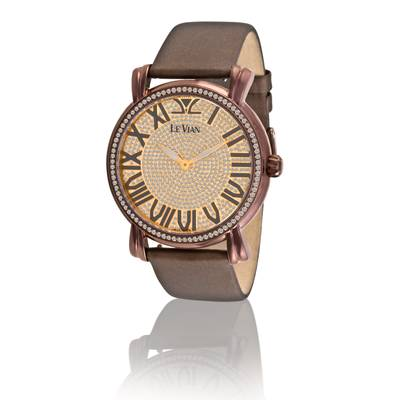 Stainless Steel Watch with Chocolate Diamonds® 3  1/2 cts. | ZAG 102A