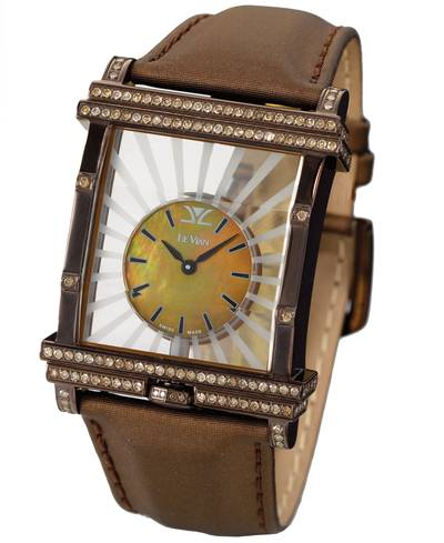 Stainless Steel Watch with Chocolate Diamonds® 1  7/8 cts. | ZAG 117